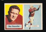 1957 Topps Football Card #38 Don Stonesifer Chicago Cardinals