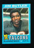 1971 Topps Football Card #2 Jim Butler Atlanta Falcons