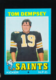 1971 Topps Football Card #5 Tom Dempsey New Orleans Saints