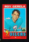 1971 Topps Football Card #14 Roy Gerela Houston Oilers