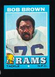 1971 Topps Football Card #16 Hall of Famer Bob Brown Los Angeles Rams