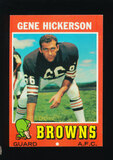 1971 Topps Football Card #36 Hall of Famer Gene Hickerson Cleveland Browns