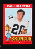 1971 Topps Football Card #38 Paul Martha Denver Broncos