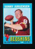 1971 Topps Football Card #50 Hall of Famer Sonny Jurgensen Washington Redsk