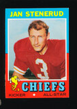 1971 Topps Football Card #61 Hall of Famer Jan Stenerud Kansas City Chiefs