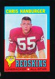 1971 Topps Football Card #97 Hall of Famer Chris Hanburger Washington Redsk