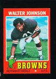 1971 Topps Football Card #104 Walter Johnson Cleveland Browns