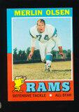 1971 Topps Football Card #125 Hall of Famer Merlin Olsen Los Angeles Rams