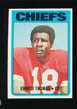 1972 Topps ROOKIE Football Card #157 Rookie Hall of Famer Emmitt Thomas Kan