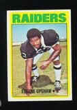 1972 Topps ROOKIE Football Card #186 Rookie Hall of Famer Eugene Upshaw Oak