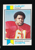 1973 Topps ROOKIE Football Card #167 Rookie Hall of Famer Curley Culp Kansa
