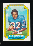 1974 Topps Football Card #1 Hall of Famer O.J. Simpson Buffalo Bills Record