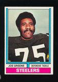 1974 Topps Football Card #40 Hall of Famer Joe Greene Pittsburgh Steelers