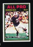 1974 Topps Football Card #130 Hall of Famer O.J. Simpson Buffalo Bills All