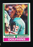 1974 Topps Football Card #200 Hall of Famer Bob Griese Miami Dolphins