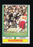 1974 Topps ROOKIE Football Card #219 Rookie Hall of Famer Ray Guy Oakland R