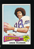 1975 Topps ROOKIE Football Card #65 Rookie Hall of Famer Drew Pearson
