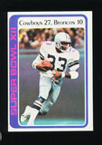 1978 Topps Football Card #168 Super Bowl XII (Tony Dorsett)