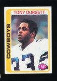 1978 Topps ROOKIE Football Card #315 Rookie Hall of Famer Tony Dorsett Dall