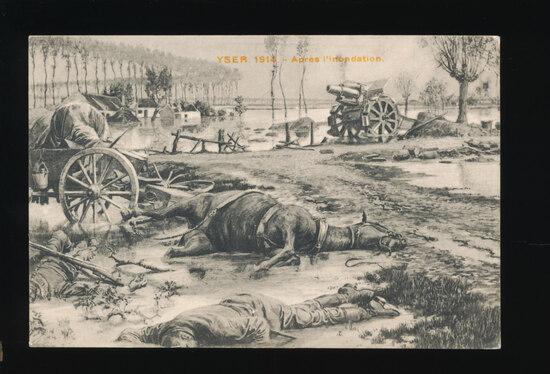 1914 (FRANCE) YSER 1914-Apres l'inondation  ('Yser was a battle of the Firs