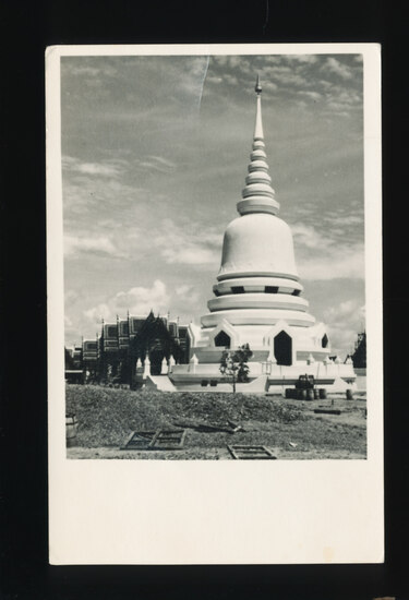 1951 RPPC of Temple at Bangkok, Siam (Thailand) Written and Signed by estee