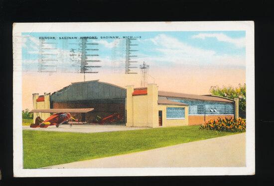 1933 HANGAR, Saginaw Airport, Saginaw, Mich.  SIZE:  Standard; CONDITION: