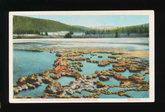 1948 Sapphire Pool and Biscuit Basin, Yellowstone National Park.  SIZE:  St
