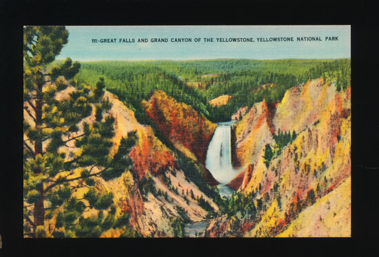 1948 Great Falls and Grand Canyon of the Yellowstone (river), Yellowstone N