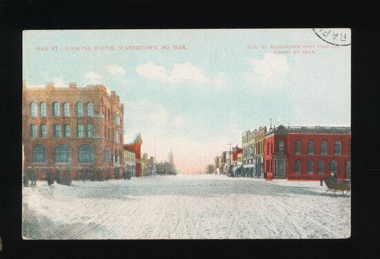 1911 Oak St. Looking South, Watertown, SO. DAK.  SIZE:  Standard; CONDITION