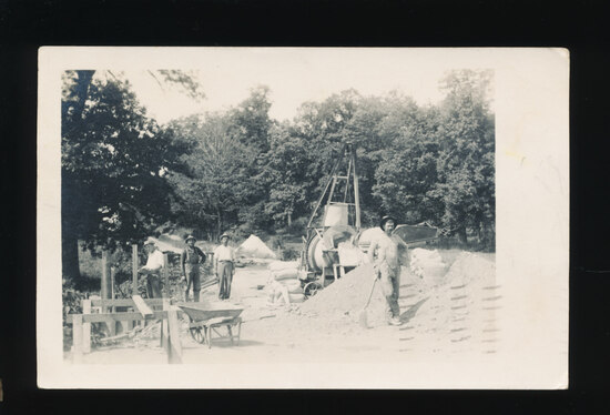 1912 RPPC Building a Bridge in the Metro-Milwaukee Area.  Nice, Crisp image
