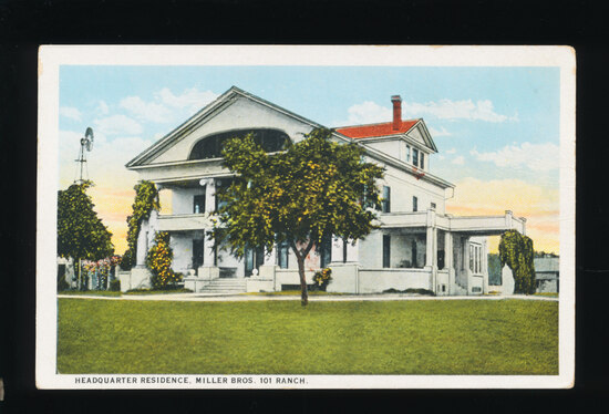 1920s Headquarters Residence, Miller Bros. 101 Ranch.  SIZE:  Standard; CON