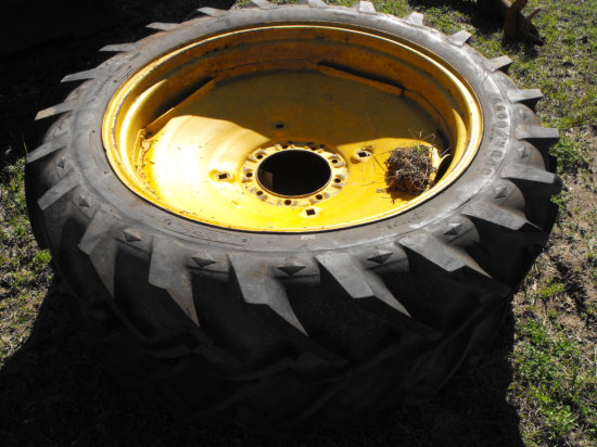 (2) 11.2 X 34 TIRES AND WHEELS