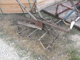 MULE DRAWN PLOW AND SECTION HARROW