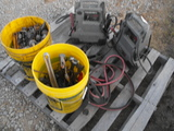 PALLET OF JUMPERS, CABLES, TOOLS, BOLTS/NUTS