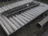 METAL AWNING WITH POSTS