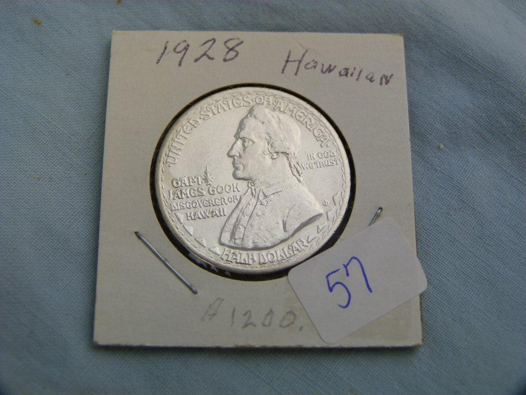 1928 Hawaiian US Comm. Half Dollar, AU