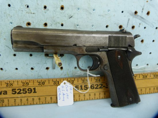 Colt 1911 US Army SA Pistol, .45 Auto, SN: 376072