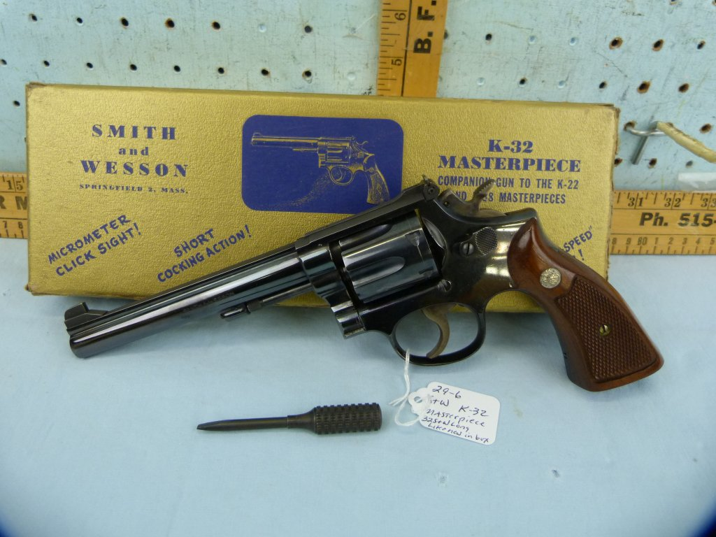 Smith & Wesson K-32 Masterpiece Revolver, SN: K825106