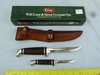 Case XX USA 2-knife set w/leather sheath, NIB
