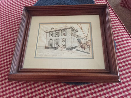 Personalized drawing of your Sigourney family home by Dave Almy (Vicki Rhea Griner's brother-in-law)
