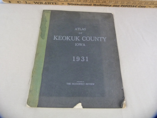 1931 Atlas of Keokuk County, published by the Sigourney News-Review