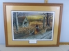 """School's Out"" by Greg Bordignon.  Matted and framed."