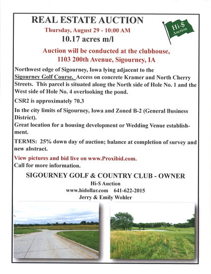 10.17 Acres m/l for development or farming.  Find full printable brochure on our website