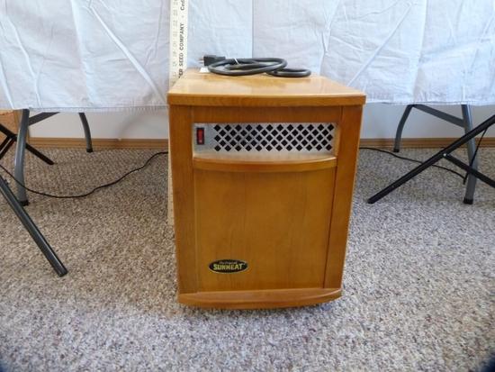 Sunheat Model 1500 watt electric heater.