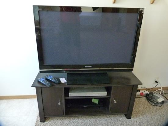 """Panasonic Vieta 41"""" HD plasma television - with Panasonic DVD player & stand"""