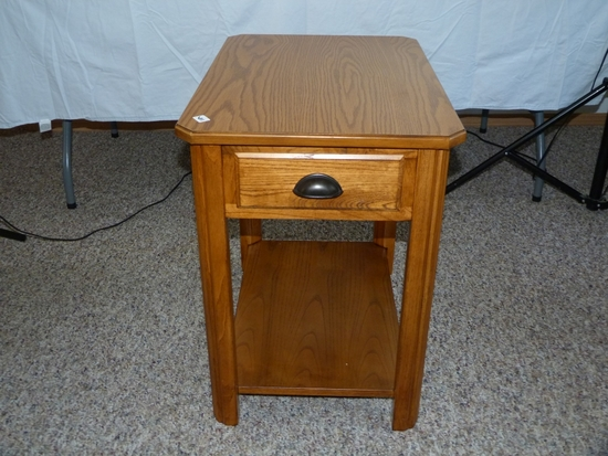 """one drawer end table - 24"""" T, 24"""" L, 17"""" W"""