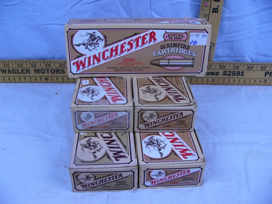 Ammo: (5) boxes, Winchester 22 WRF, 250 rds - 5x$