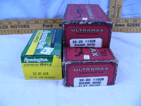 Ammo: 3 boxes, 32-20, 50 rds each - 3x$