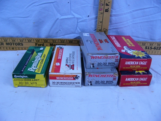 Ammo: 6 boxes 30-30 Win, 20 rds each - 6x$