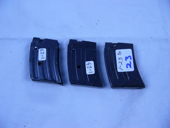 (3) Winchester adaptable .22 cal magazines - 3x$